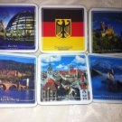 GERMAN Vintage Set of  6 Traditional Drink Coasters Cities CORK Cityscapes