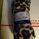 "Cheetah ANIMAL PRINT FLEECE THROW BLANKET 50"" X 60"" NEW IN WRAPPER"