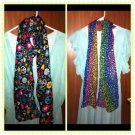 You Pick Leopard Or Peace Sign Scarf/Smiley  Hippie NEW (shirt Not Included)
