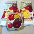 Veggies 3 PC KITCHEN TOWEL SETS