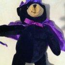 Adorable Halloween Wizard/witch Black Bear Plush