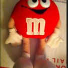 Soft Red Plush M&M Chocolate Candy