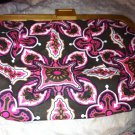 Old Navy pink crosses etc Design Strapless Wooden Clasp Purse NWT