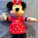 Disney Minnie Mouse Plush Doll  Stuffed Toy Pink Dress