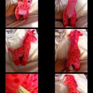 Adorable Plush Pink Plush Girraffe Stuffed Animal