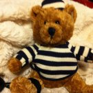 Galerie plush Teddy Bear Prisoner of Love convict ball chain 7""