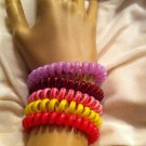 HOT RETRO STYLE! - Phone Cord Bracelets, Anklets or Pony Holders - n1