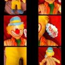 Kellytoy Plush Clown Doll Stuffed Toy Orange Blue Pink Velour Boys Girls All Age