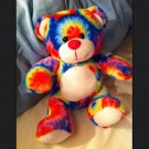 TYE-DYE TEDDY BEAR RAINBOW Plush Stuffed Animal Toy