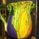 Collectible World Bazaars Inc. Vegetable Pitcher Corn, Carrots, Eggplant