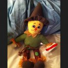 "THE WIZARD OF OZ Rare Scarecrow 13"" Plush stuffed 2013 TOY FACTORY"