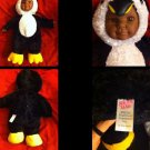 "Sugar Loaf Brand 16"" DOLL as A Penguin Plush Stuffed Body,Vinyl Face+ Hands"