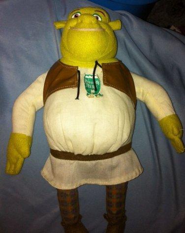 "Macys 2007 Plush 20"" Shrek The Third Talking Green Ogre Plush Dreamworks"