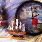 LIGHTHOUSE,clock & Ship Lot