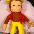 """CURIOUS GEORGE COWBOY 14"""" Plush Stuffed Monkey by Kellytoy Hat Chaps and Lasso"""