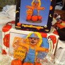 Halloween Scarecrow Pumpkin Ceramic Trick Or Treat