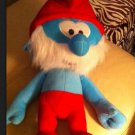 SMURFS MOVIE PLUSH TOYS PAPA SMURF STUFFED DOLL