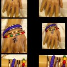 Handmade Comfort cross Multicolor bead  Bangles bracelet; Detailed Cross Charm