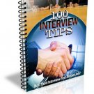 ~*~ 100 Interview Tips eBook ~*~