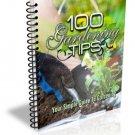 ~*~ 100 Gardening Tips eBook ~*~