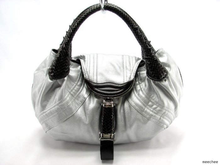 SILVER BROWN DETECTIVE SPY HANDBAG HOBO PURSE TOTE BAG