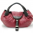 BURGUNDY BROWN DETECTIVE SPY HANDBAG HOBO PURSE BAG