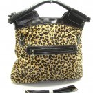 Leopard Animal Print Bucket Hobo Handbag Tote Purse Bag
