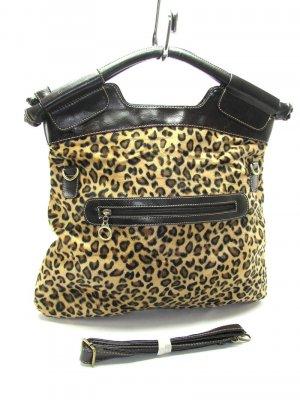 Leopard Animal Print Bucket Hobo Handbag Tote Purse Bag