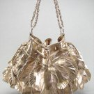 Bronze Leaf Floral Chain Handbag Fashion Tote Purse Bag