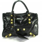 Black Motorcycle Hobo Tote Handbag Purse Fashion Bag
