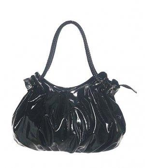 Patent Black Handle Hobo Tote Handbag Purse Fashion Bag