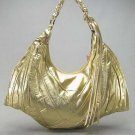 Metallic Gold Melie Bianco Bat Handbag Purse Hobo Bag