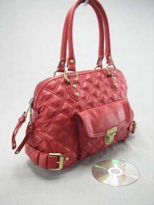 Red Quilted Elise Venetia Handbag Tote Purse Bag