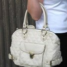 Beige Quilted Elise Venetia Handbag Tote Purse Bag