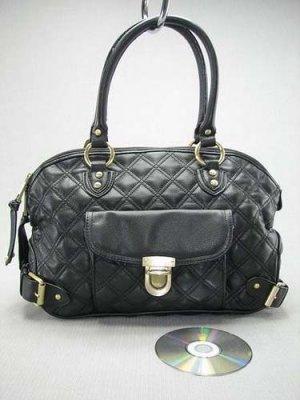 Black Quilted Elise Venetia Handbag Tote Purse Bag