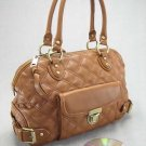 Camel Quilted Elise Venetia Handbag Tote Purse Bag