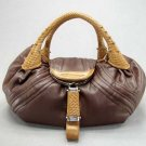 Brown / Tan Spy Tote Handbag Purse Fashion Bag