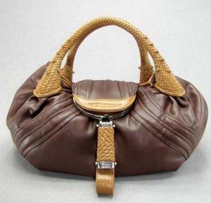 Brown / Tan Spy Tote Handbag Purse Fashion Bag