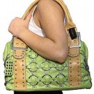Green Multi Chain Ring Tote Handbag Purse Fashion Bag