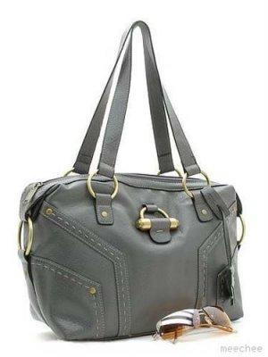 Gray Bowler Muse Handbag Fashion Tote Purse Bag