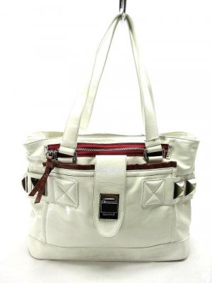 Large Patent White Hobo Tote Handbag Purse Fashion Bag