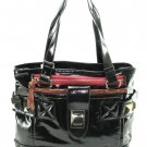 Large Patent Black Hobo Tote Handbag Purse Fashion Bag