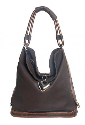 Brown Bronze Bucket Hobo Tote Handbag Purse Fashion Bag