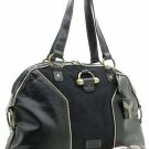 Black Suede Dome Muse Bowler Handbag Purse Hobo Bag