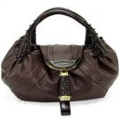 REAL LEATHER Dark Brown Spy Hobo Tote Handbag Purse Bag