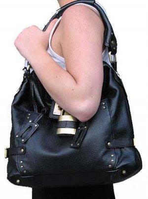 Dark Padlock Bucket Tote Handbag Purse (inspired by chloe)