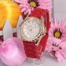 Silicone Jelly Gel Quartz Analog Sports new Watch #423 Free shipping
