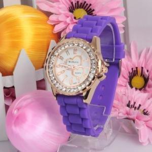 Silicone Jelly Gel Quartz Analog Sports new Watch #422 Free shipping