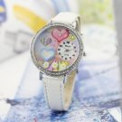 Polymer Clay Crystal Quartz Leatheroid Women new watch #420 Free shipping