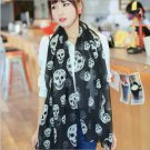 Skull Head Skeleton Soft Long Shawl Scarf #201 Free shipping